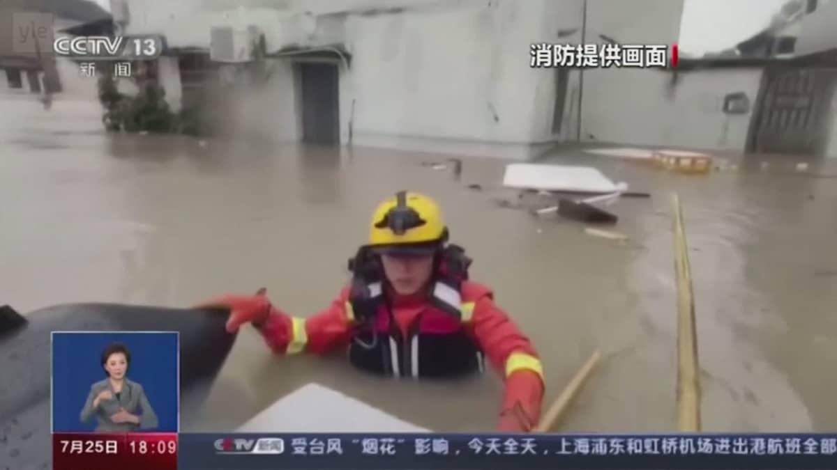 In-Fa-taifuuni rantautui Kiinaan