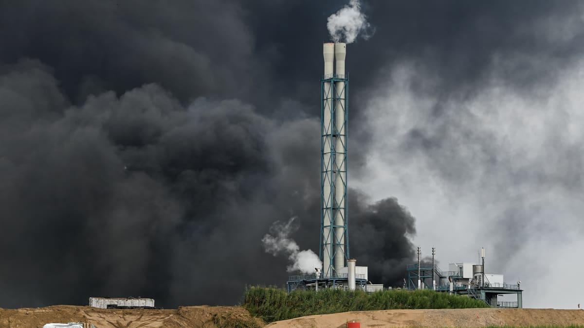 Saksan Leverkusenissa räjähti teollisuuspuistossa