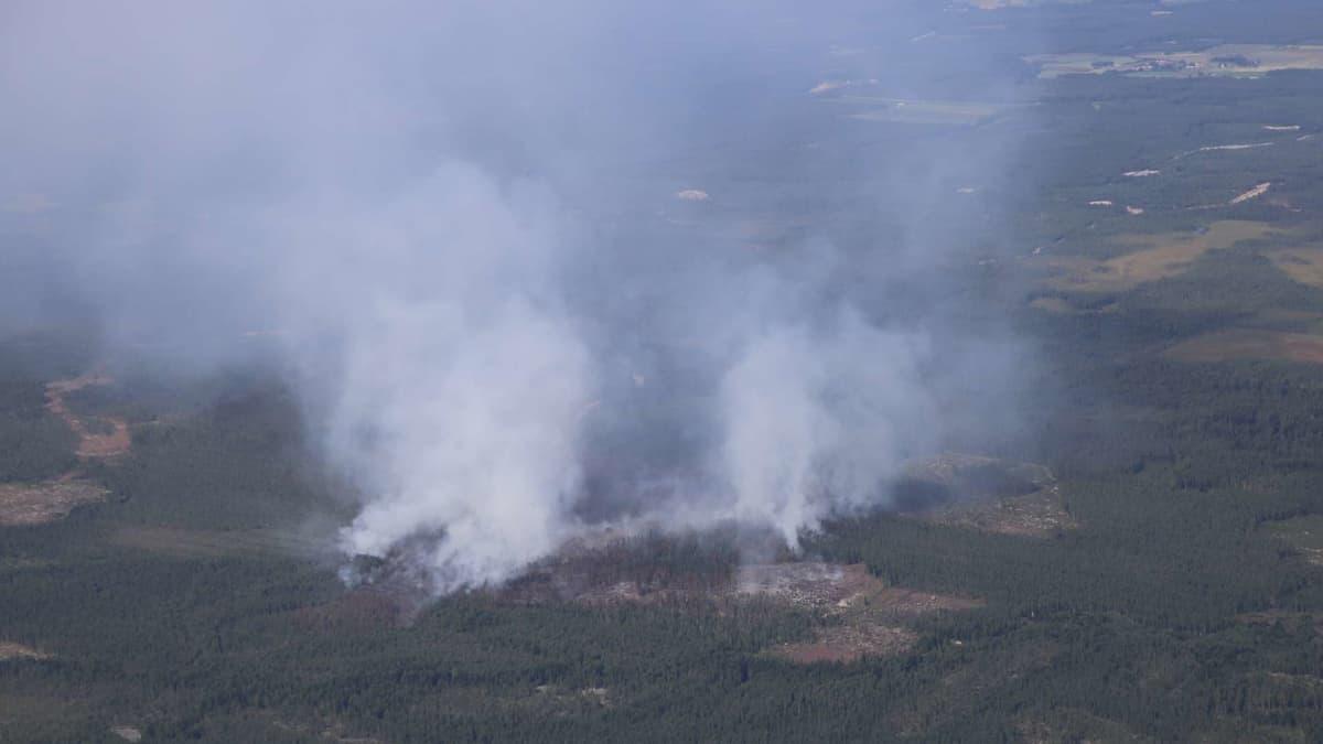 Kalajoen metsäpalon sammutuksessa tilanne on kriittinen