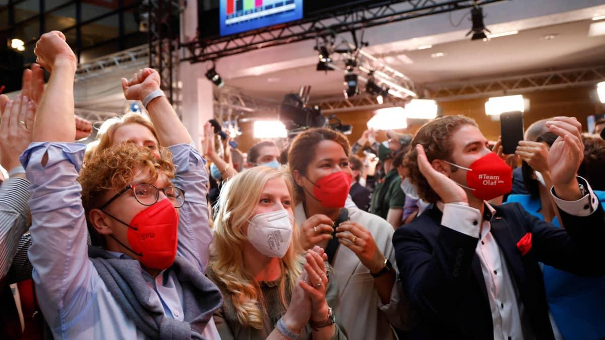 Sosiaalidemokraattien SPD on alustavien tulosten mukaan vaalivoittaja