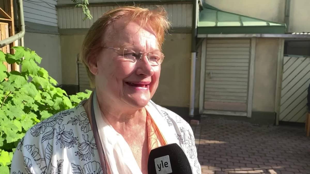 Presidentti Tarja Halonen muistelee Jyrki Kangasta