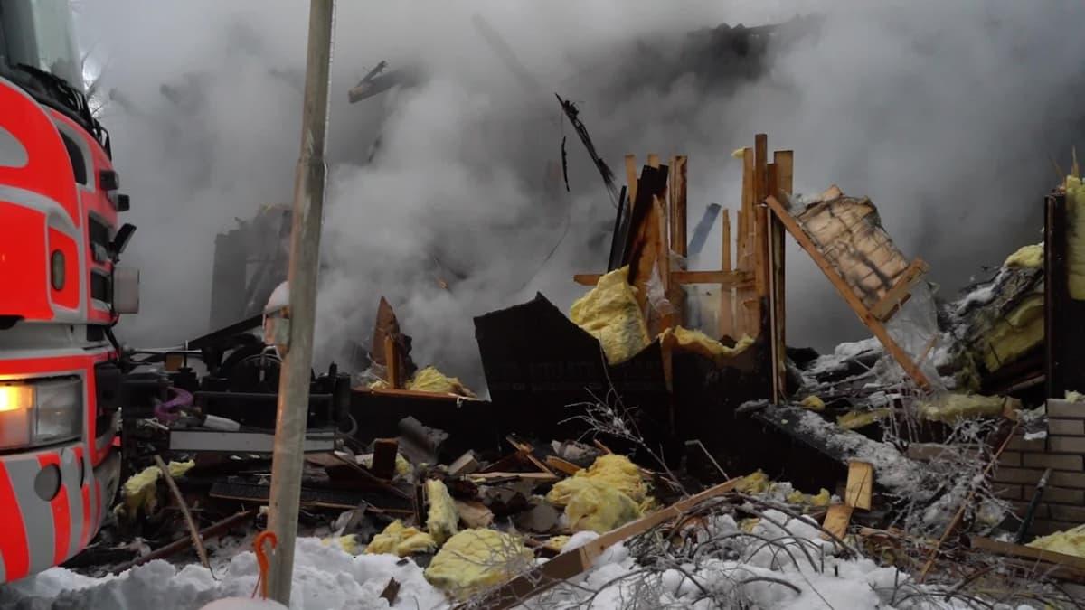 Omakotitalo paloi Sastamalassa