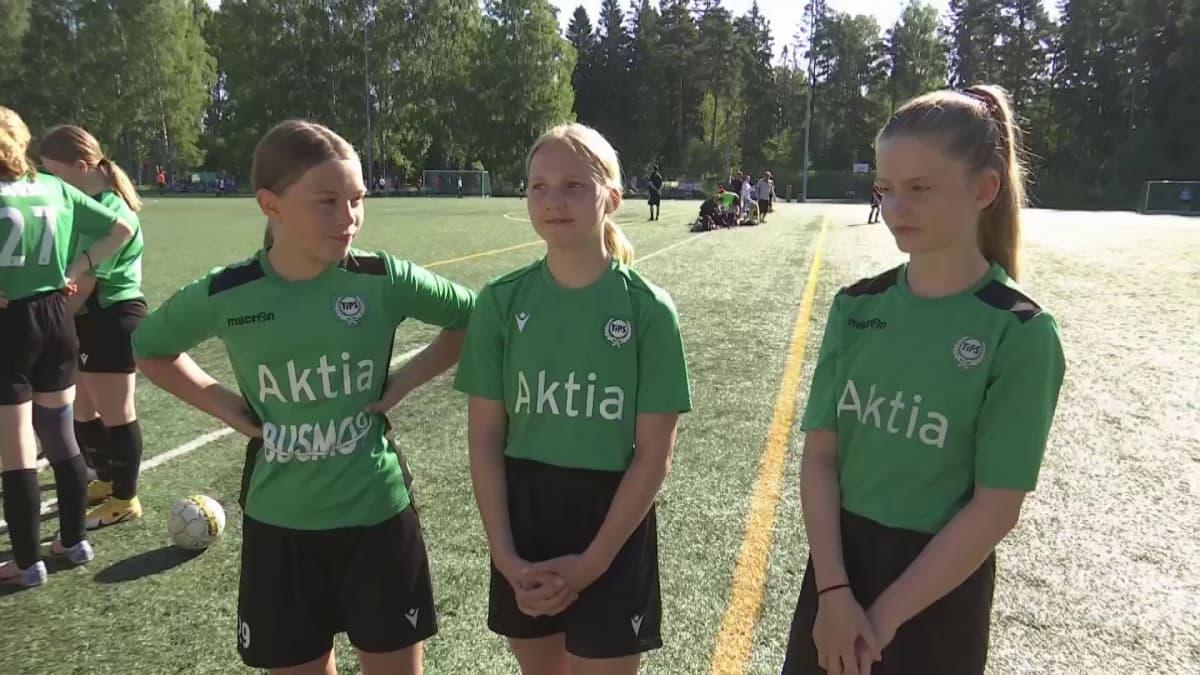 Tyttöjen jalkapalloturnaus Stadi Cup starttasi Helsingissä