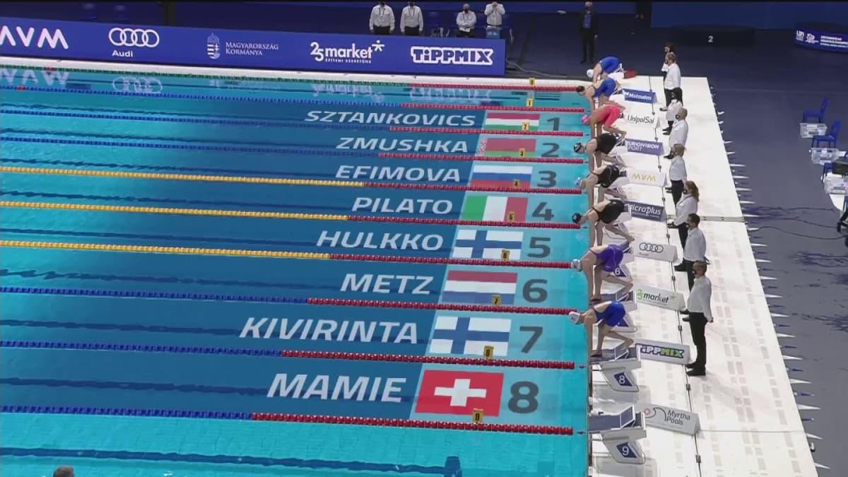 Ida Hulkko ja Veera Kivirinta uivat finaaliin! Italialainen teki uuden maailmanennätyksen