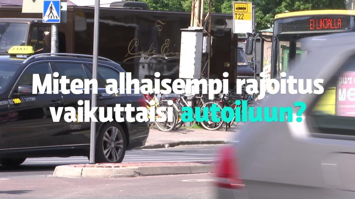 Testasimme: Miten nopeusrajoituksen laskeminen vaikuttaisi Turun keskustassa?