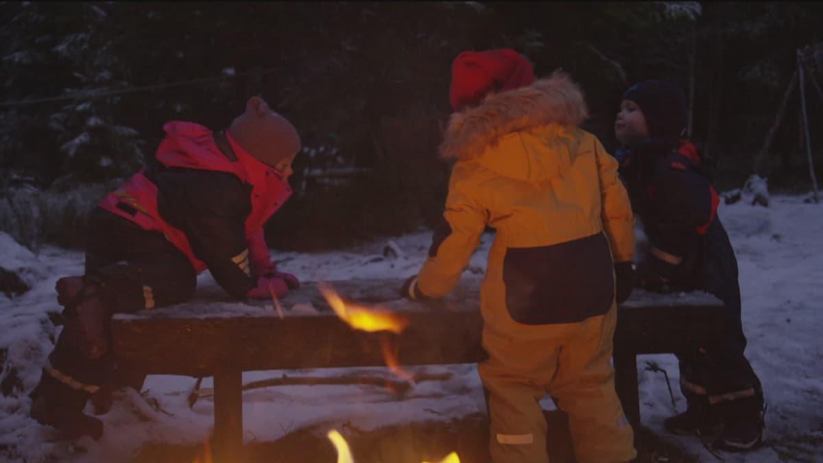 Lapset ulkoilmapäiväkoti Norja