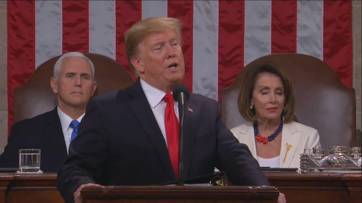 Trumpin valtakunnan tila -puhe