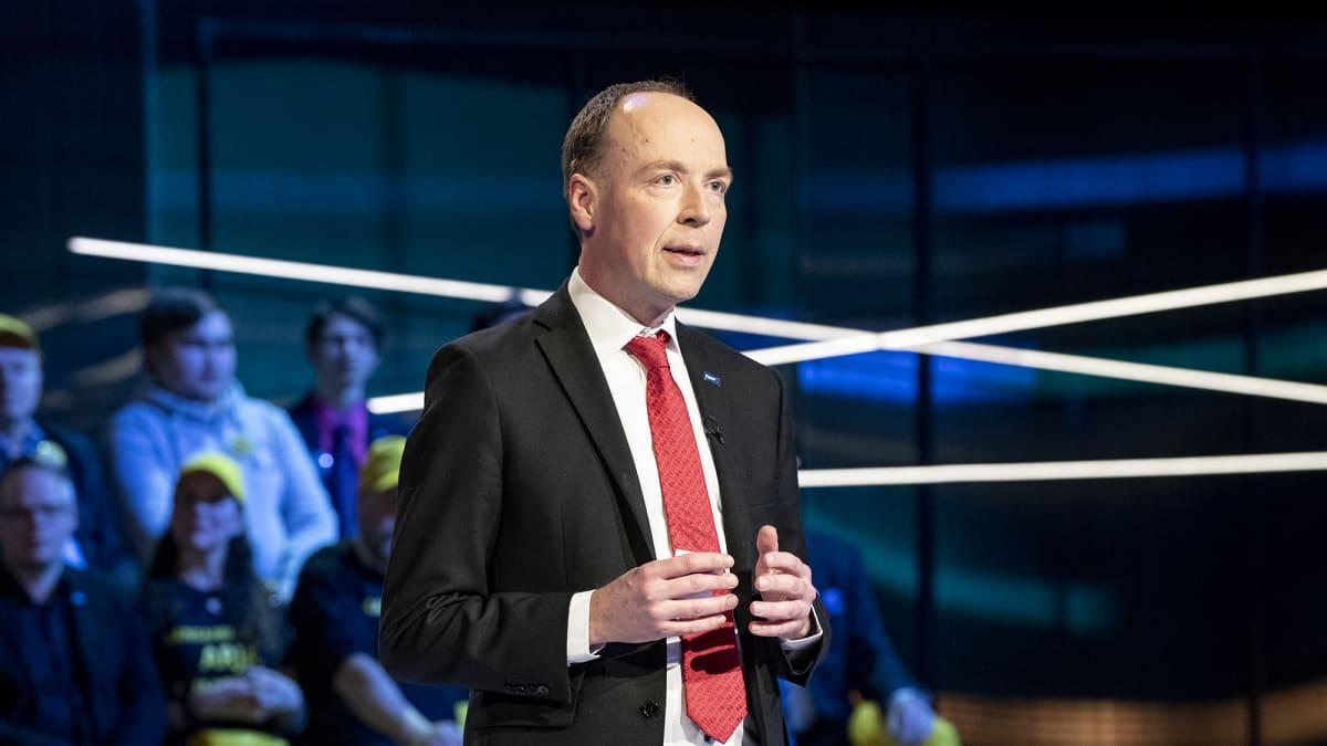 Jussi Halla-Aho Ylen Vaalitentissä 28.03.2019 Studio 2 Yleisradio. Eduskuntavaalit 2019