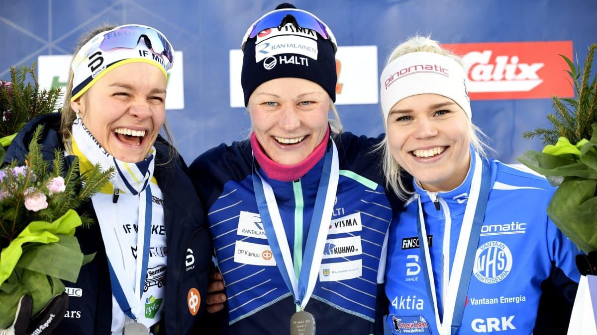 Julia Häger, Anne Kyllönen ja Jasmi Joensuu