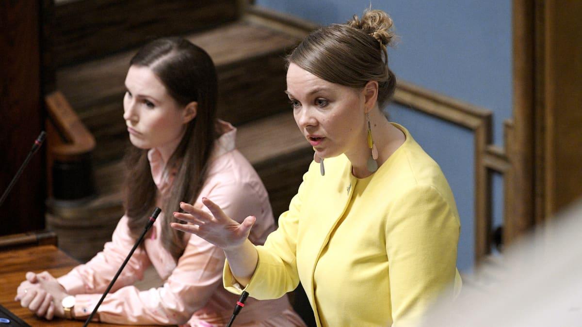 Katri Kulmuni puhui suullisella kyselytunnilla eduskunnassa Helsingissä