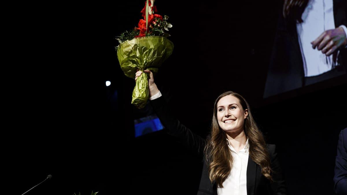 Sanna Marin valittiin SDP:n puheenjohtajaksi.