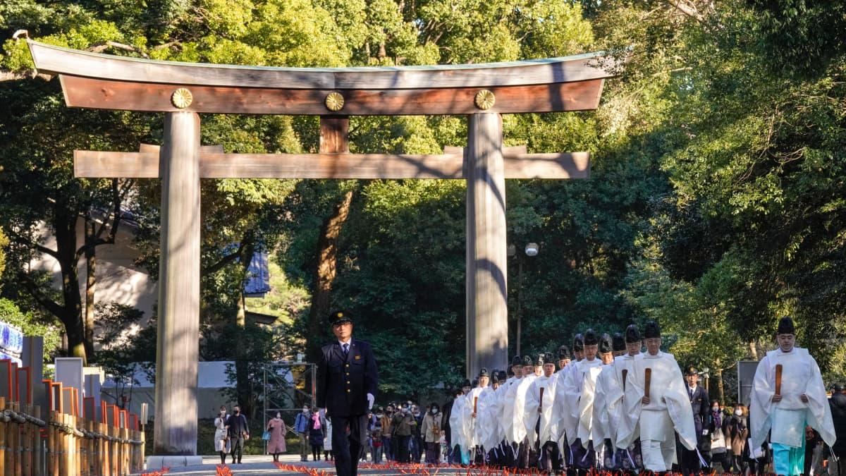 Meijin pyhäkkö Japanissa.
