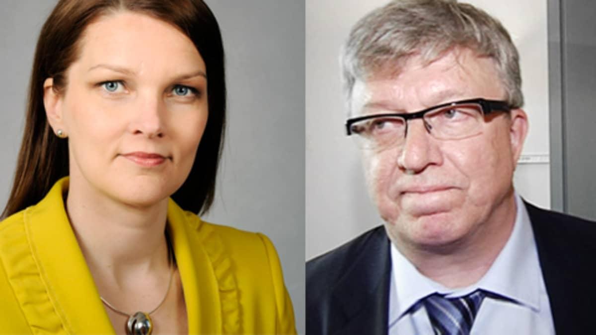 Kuvapari, jossa Mari Kiviniemi ja Timo Laaninen.