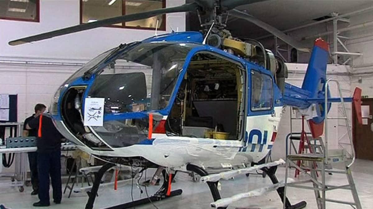 Norjan poliisivoimien helikopteri