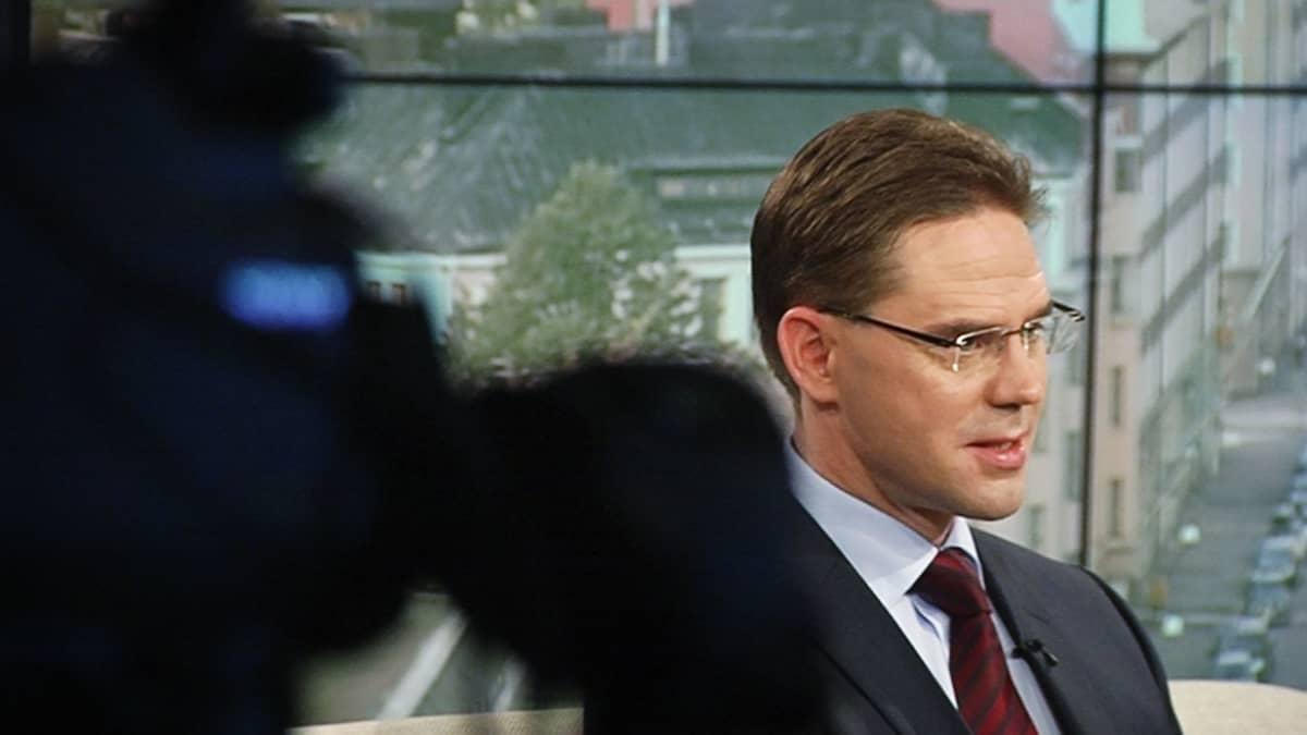 Jyrki Katainen TV1:n Ykkösaamussa lauantaina.