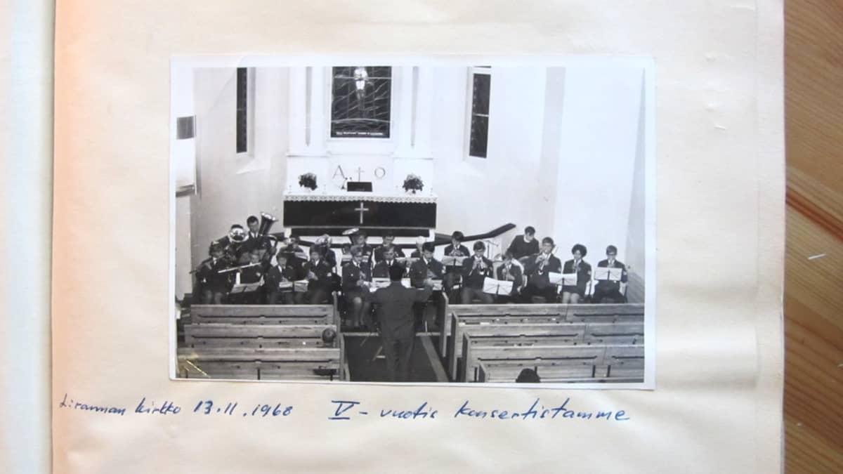 Lappeenrannan seurakuntien soittokunta 13.11.1968