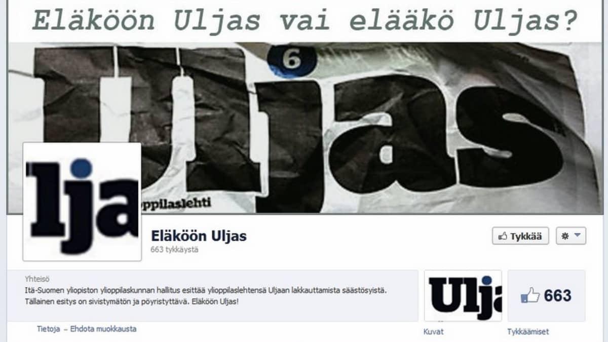 Kuvakaappaus Uljaan Facebook-sivulta.