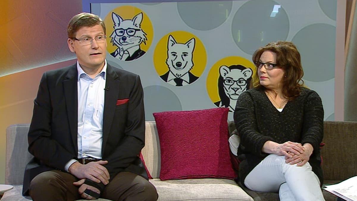 EVA:n tutkimuspäällikkö Ilkka Haavisto ja toimitusjohtaja Nina Mikkonen.