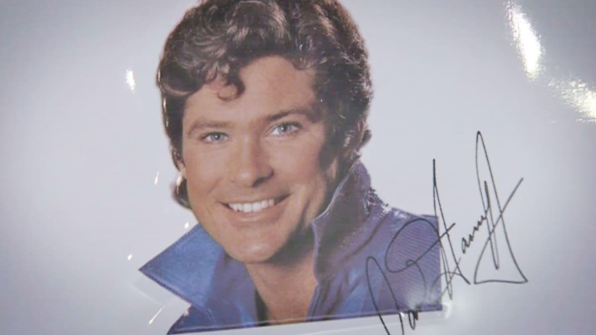 David Hasselhoffin kuva nimikirjoituksella.