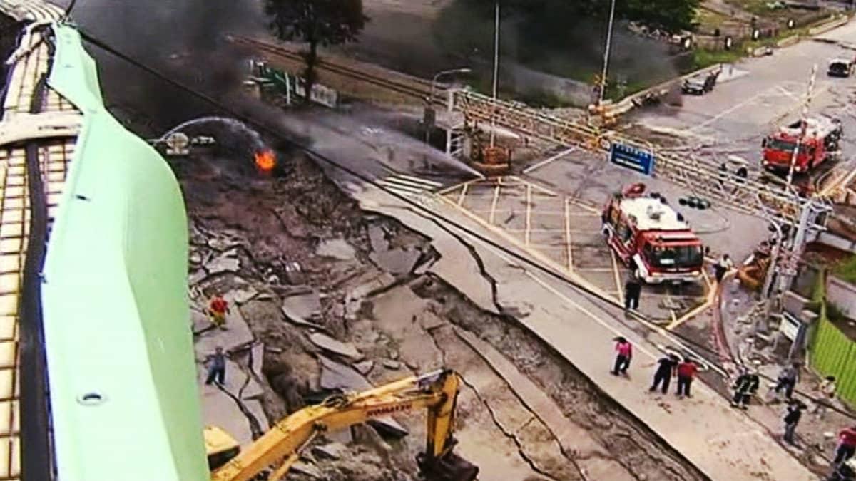Kaasuräjähdys Taiwanissa.