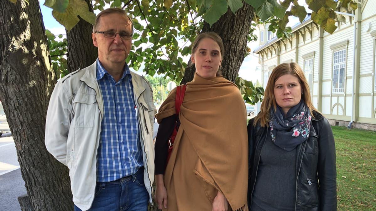 Tuomo Lyhty, Minna Leinonen ja Kirsi Uusitalo