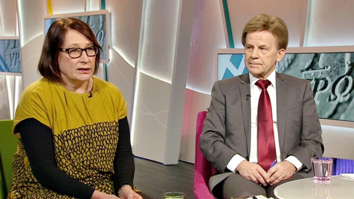 Riitta Myller ja Mauri Pekkarinen.