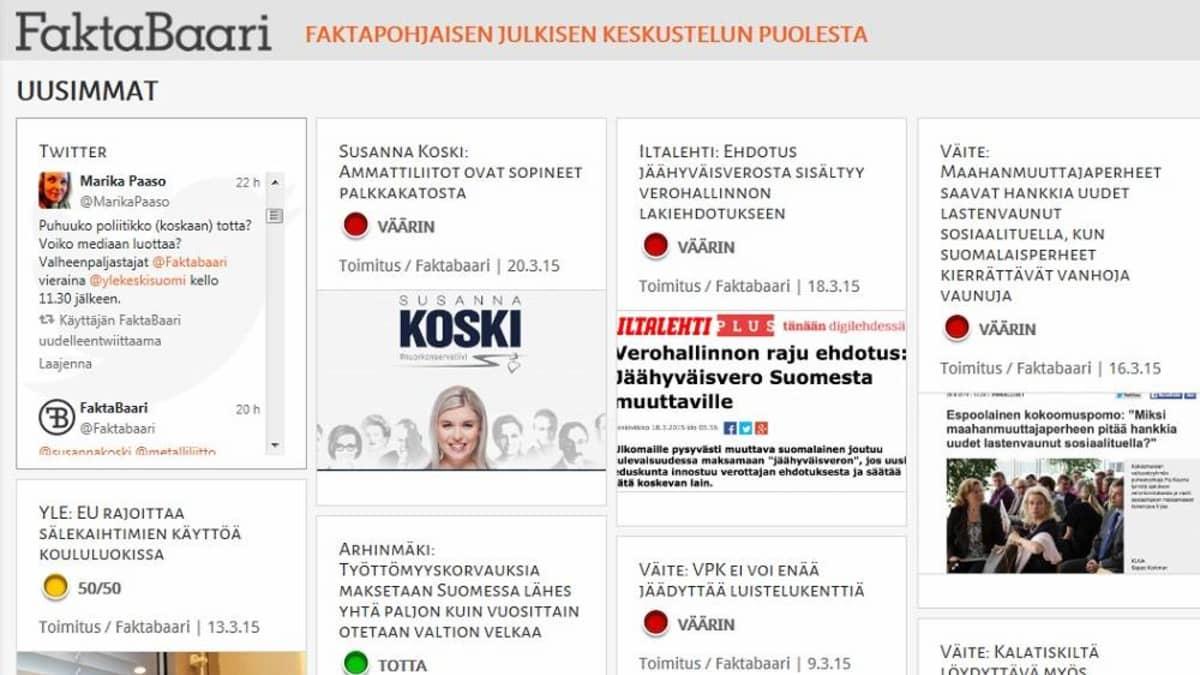Kuvakaappaus Faktabaarin nettisivuilta