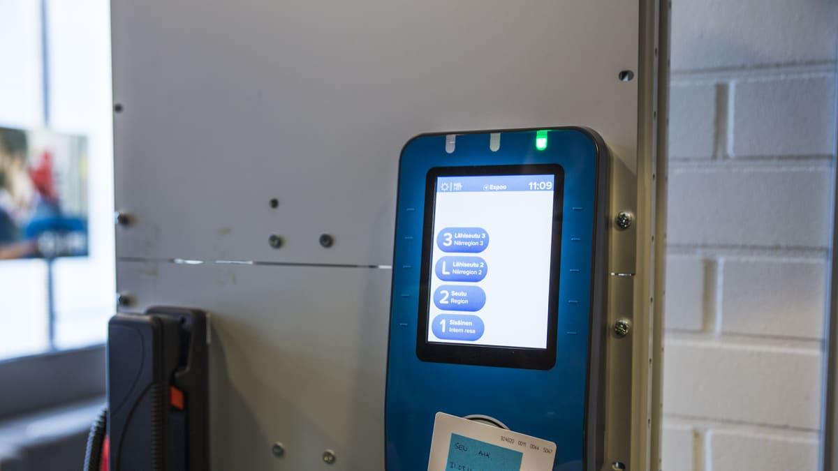 HSL:n uusi lipunleimaus automaatti