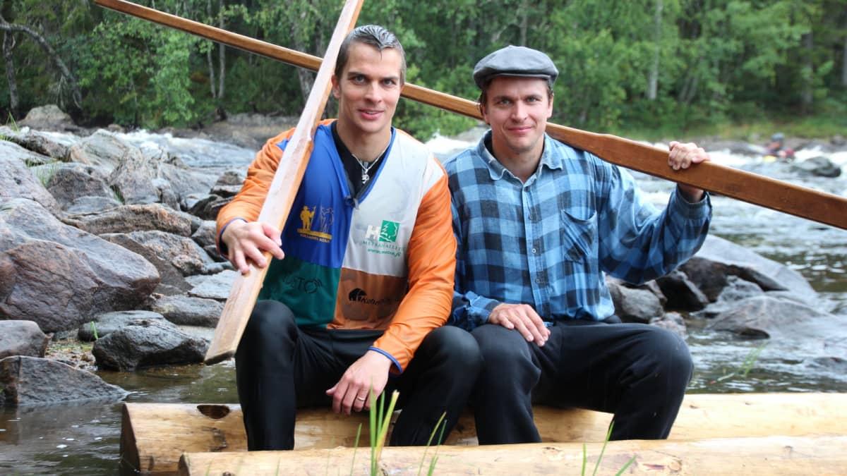 Tukkilaislajeja harrastavat veljekset Toni ja Jori Mikkonen.