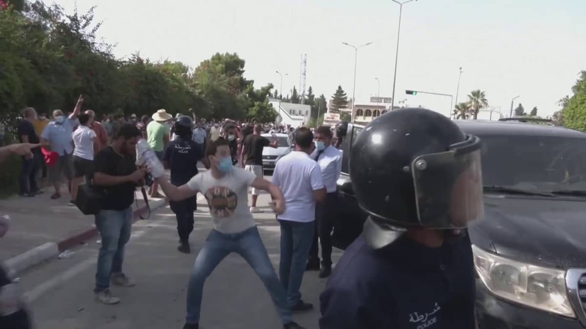 Levottomuudet Tunisiassa jatkuvat