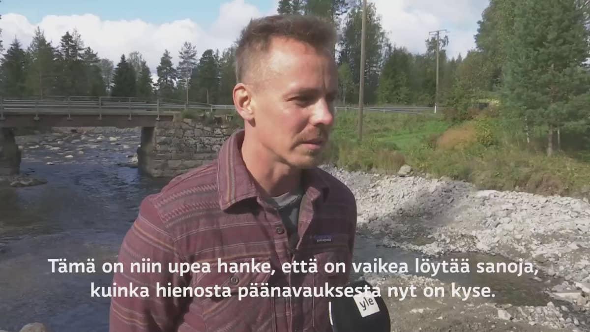 """Jasper Pääkkönen kävi katsomassa purettua patoa Hiitolanjoella: """"On vaikea löytää sanoja"""""""