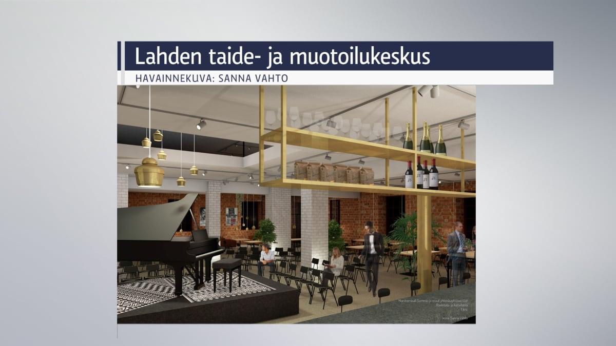 Havainnekuva Lahden taide- ja muotoilukeskushankkeesta.