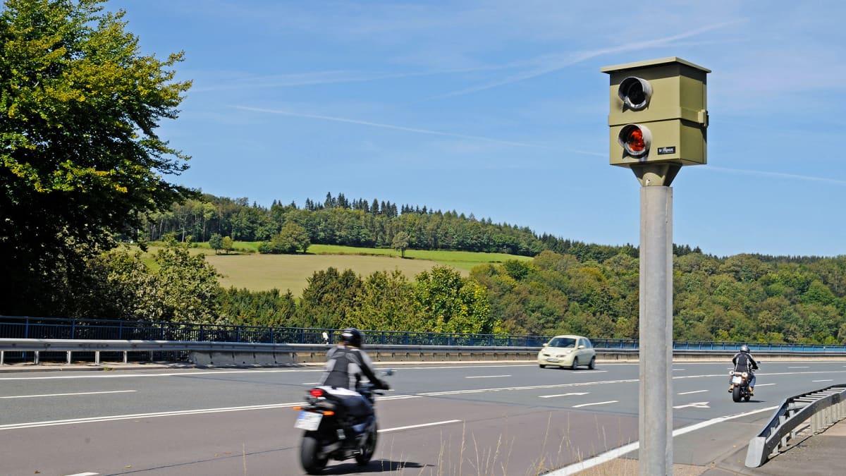 Nopeusvalvontakamera Saksassa.
