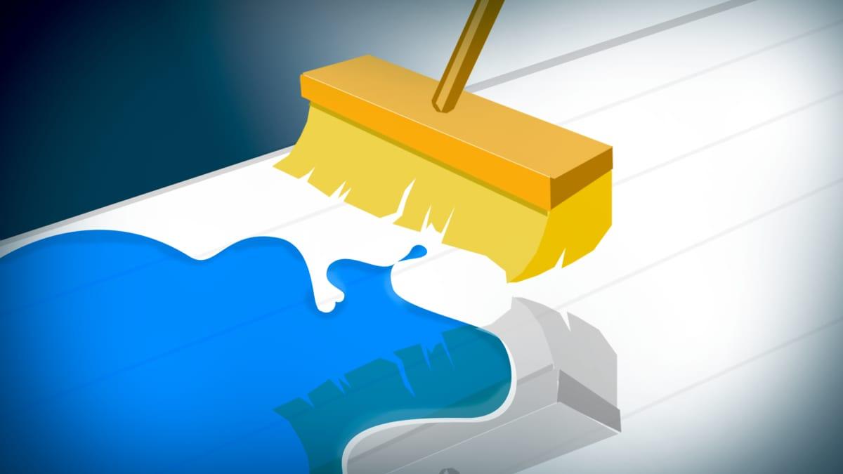Harja joka kuivaa vettä lattialta.