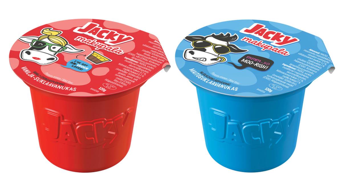 Jacky makupala vanukas vanilja-suklaa ja maitosuklaa.