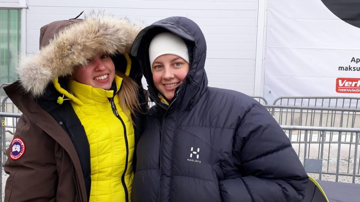 Siiri Seppälä ja Ann-Sophie Hotanen.