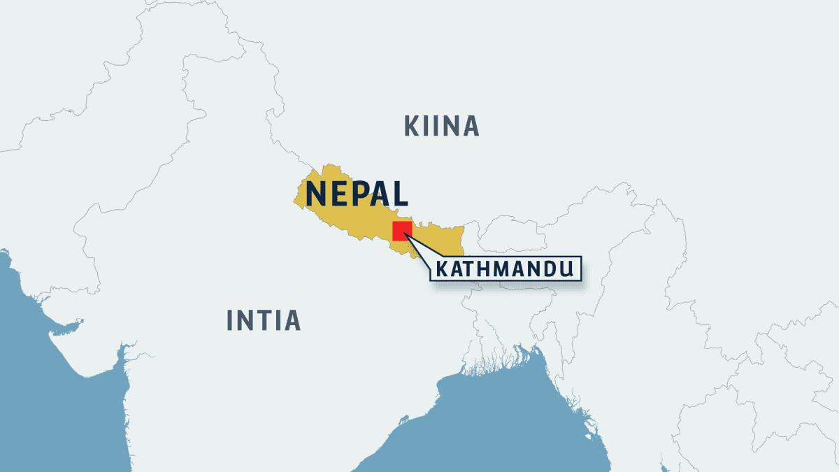Kartta Nepal Kathmandu.