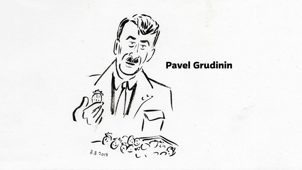 Piirros Pavel Grudinista