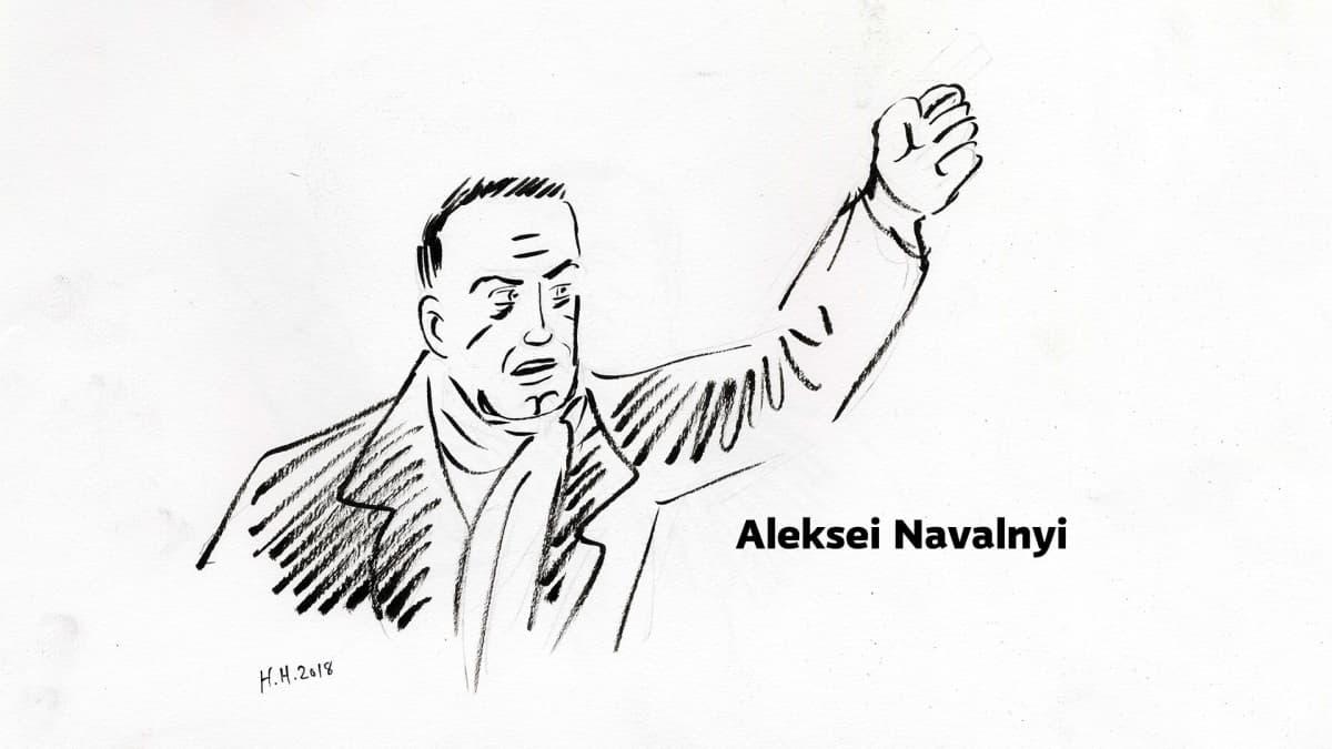 Piirros Aleksei Navalnyista