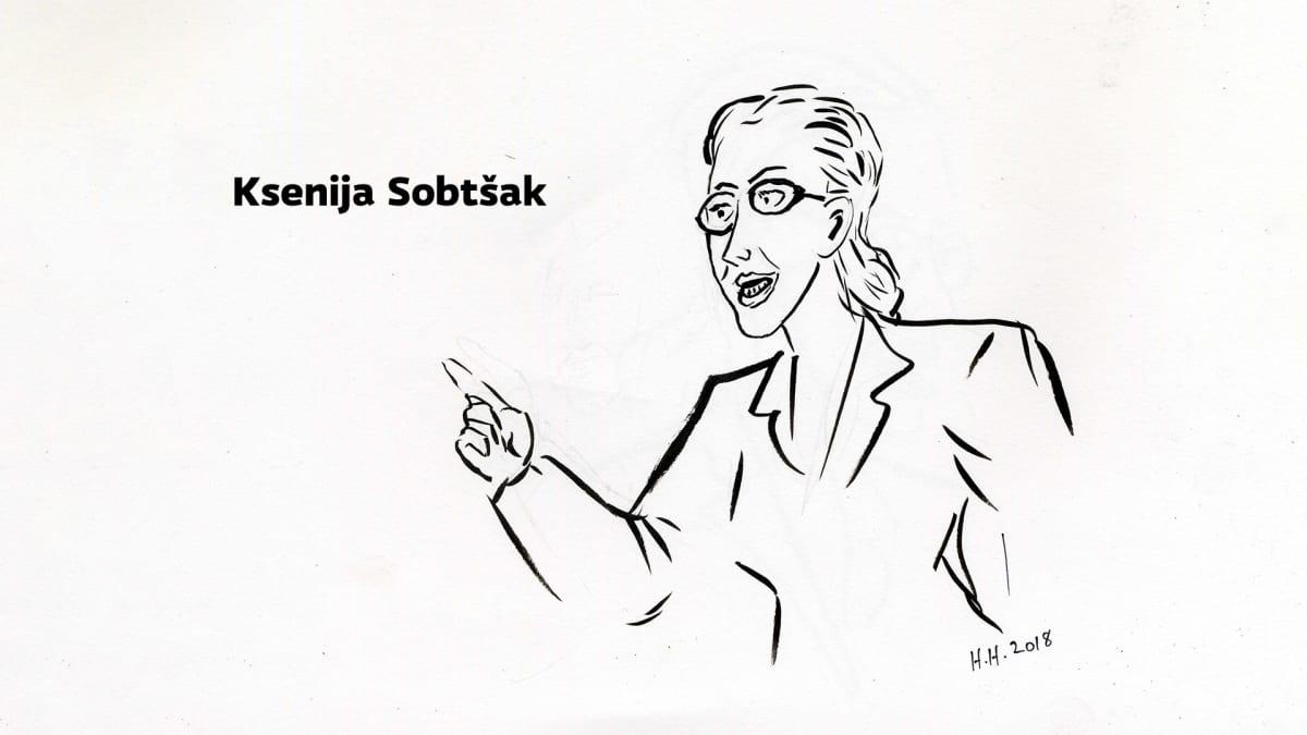 Piirros Ksenija Sobtšakista