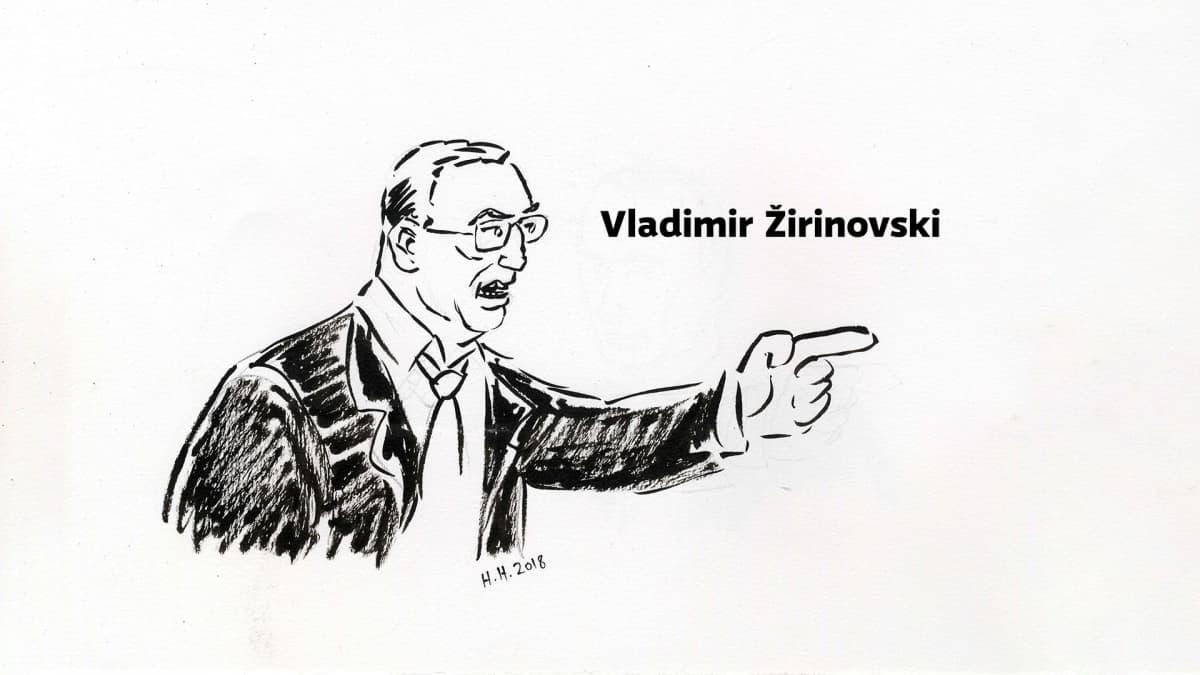 Piirros Vladimir Žirinovskista