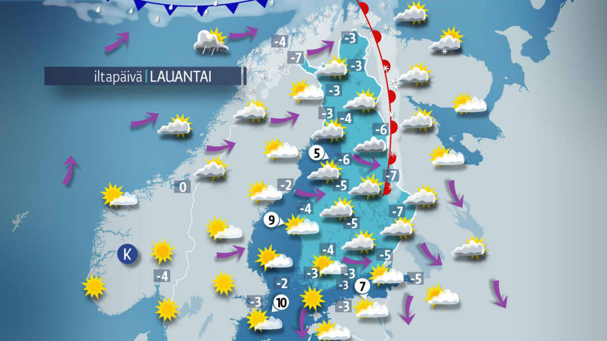 Sää, Iltapäiväkartta.