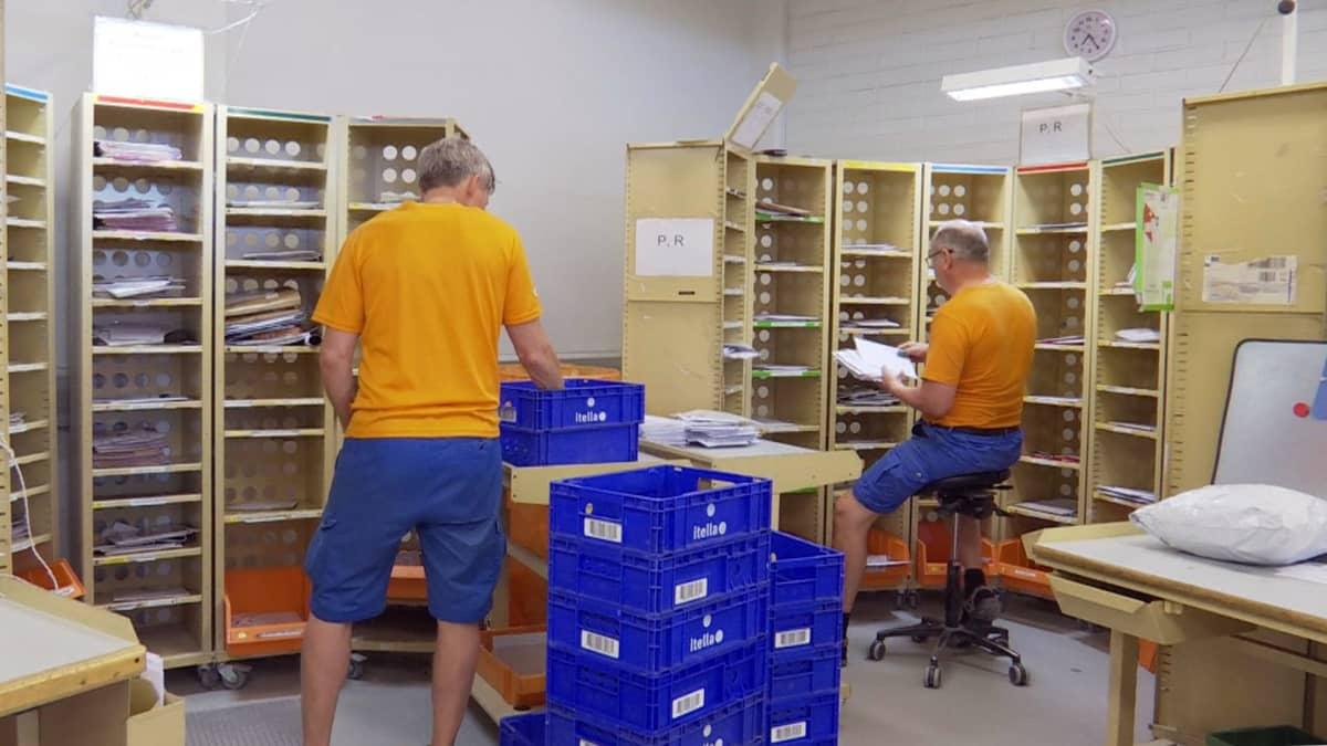 postin lajittelua