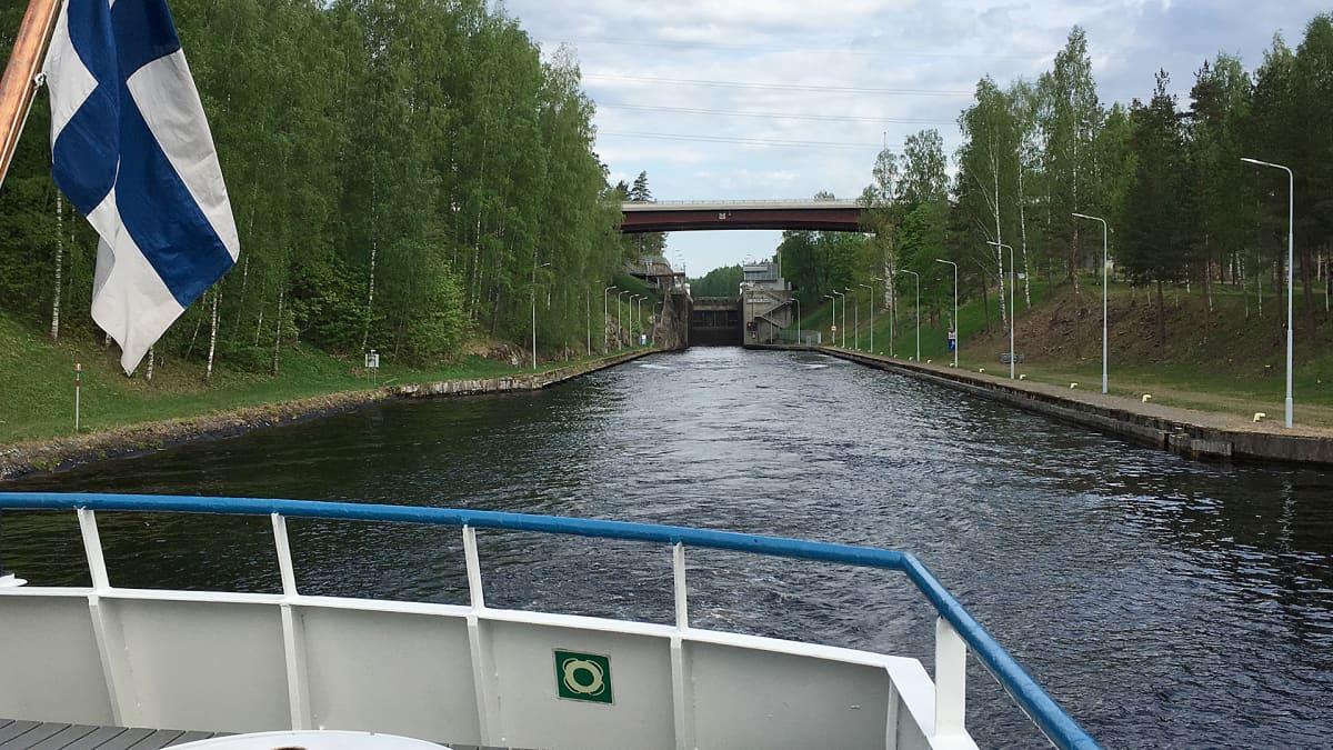 Mälkiän sulku Saimaan kanavalla