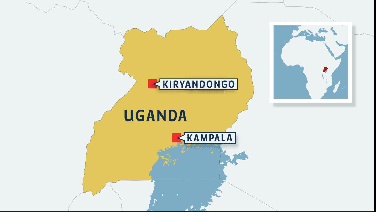 Ugandan kartta