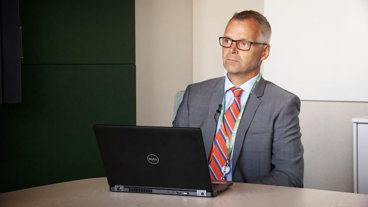 Fortumin turvallisuusjohtaja Juha Härkönen.