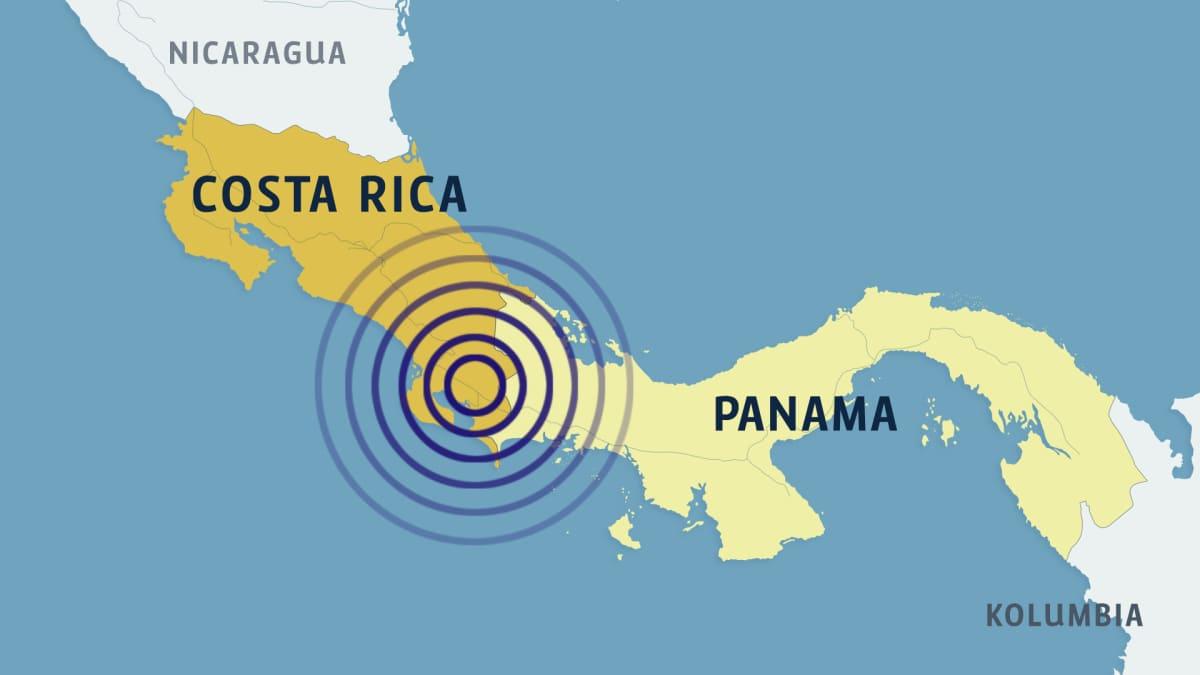 Costa Rican kartta.