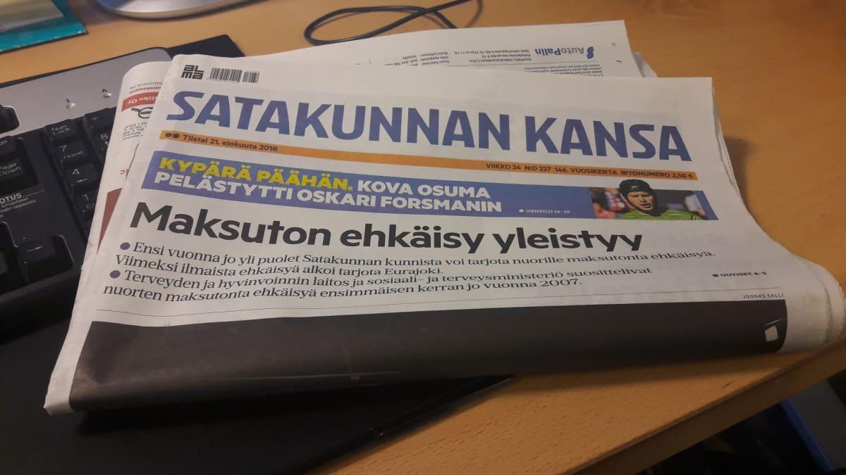 Satakunnan Kansa lehti sanomalehti