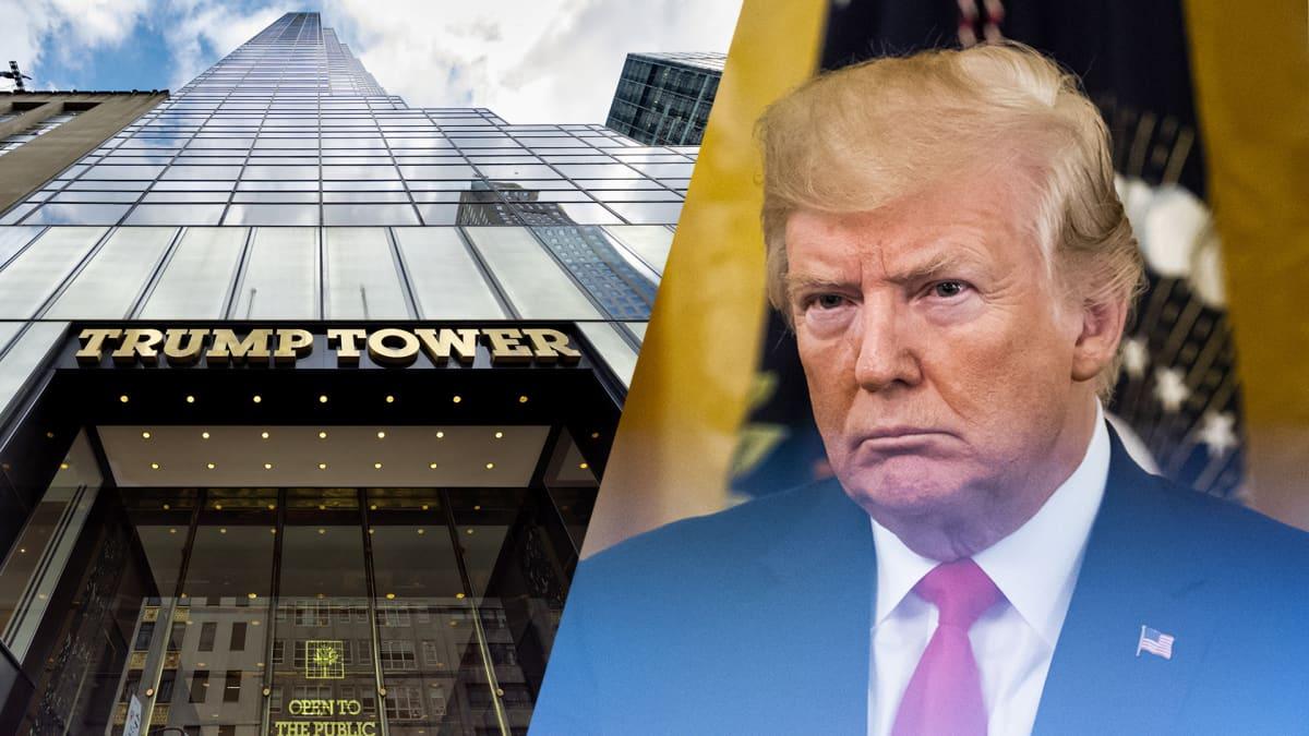 Trump Tower ja Donald trump kombo-kuvassa