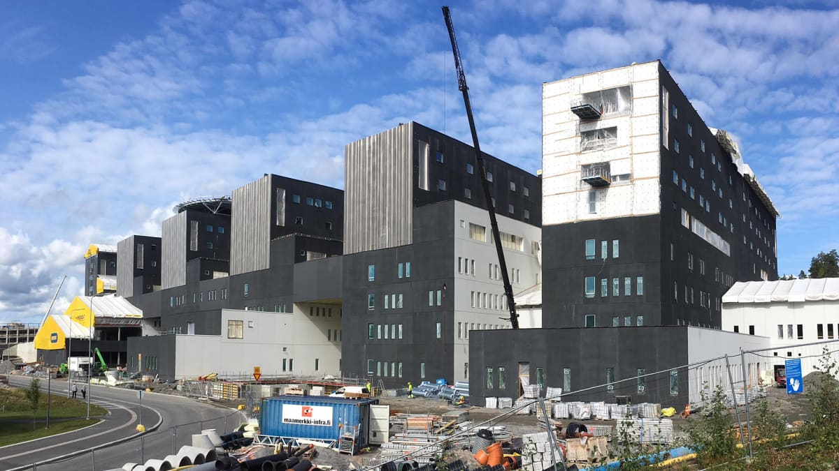 Keski-Suomen uusi sairaala Nova rakenteilla.